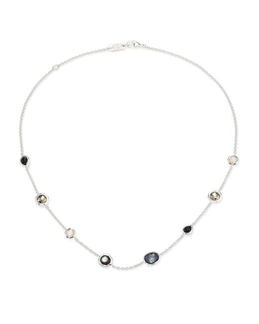 Ippolita | Metallic Rock Candy Black Tie Semi-precious Multi-stone & Sterling Silver Mini Station Necklace | Lyst