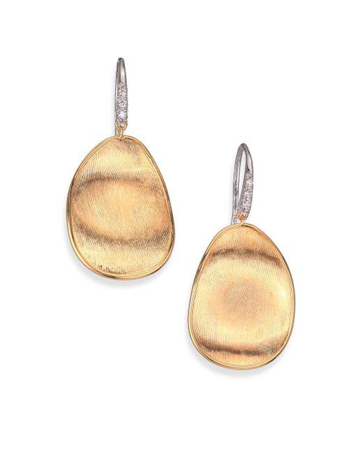 Marco Bicego | Metallic Lunaria Diamond & 18k Yellow Gold Drop Earrings | Lyst