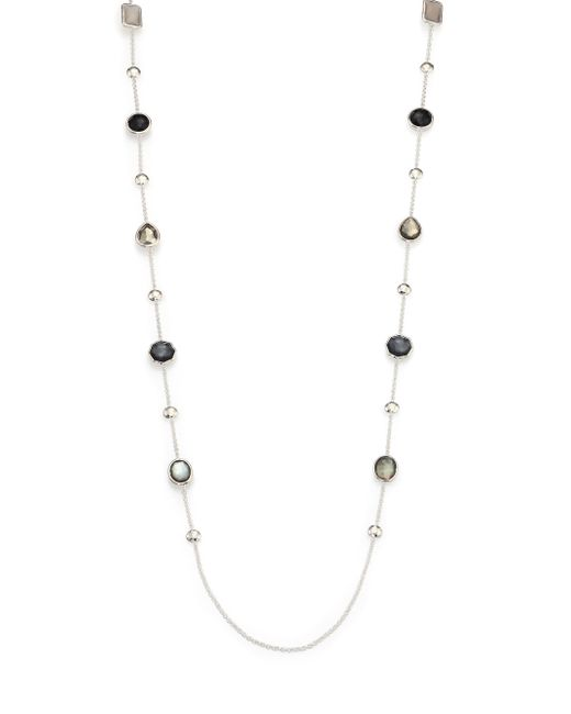 Ippolita | Metallic Rock Candy Black Tie Semi-precious Multi-stone & Sterling Silver Beaded Station Necklace | Lyst