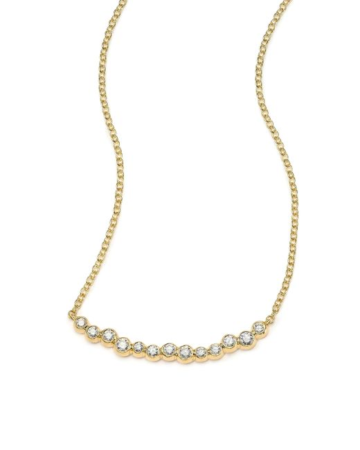 Ippolita | Metallic Glamazon Stardust Diamond & 18k Yellow Gold Skinny Smile Bar Necklace | Lyst