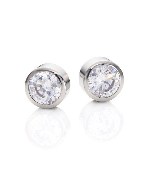 Michael Kors | Metallic Park Avenue Glam Jeweled Stud Earrings/silvertone | Lyst
