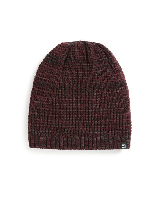 Block Headwear | Red Marled Knit Beanie for Men | Lyst