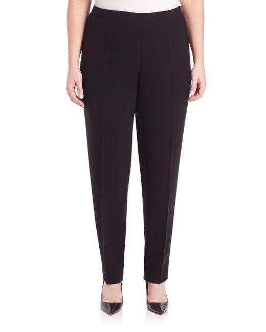 Lafayette 148 New York | Black Finesse Crepe Bleecker Pants | Lyst