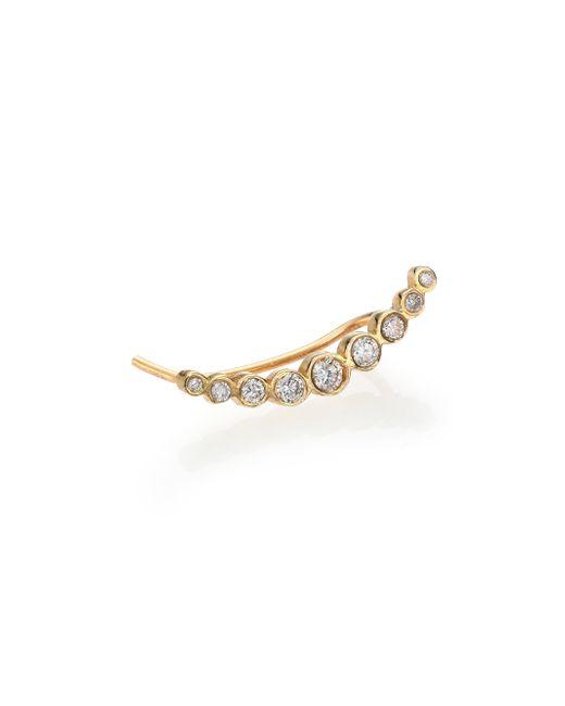 Zoe Chicco | Metallic Diamond & 14k Yellow Gold Graduated Single Ear Shield | Lyst