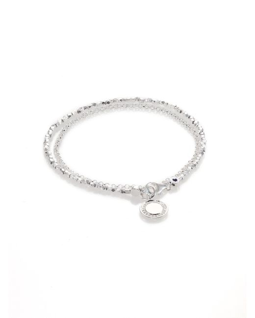 Astley Clarke | Metallic Biography White Sapphire & Sterling Silver Cosmos Beaded Friendship Bracelet | Lyst