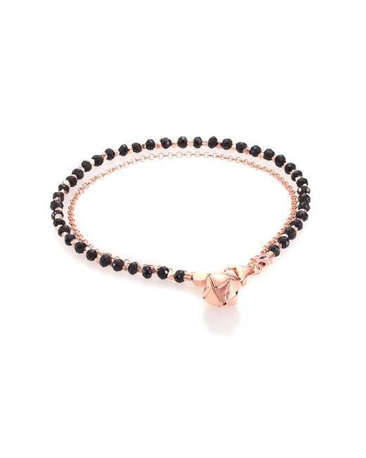 Astley Clarke | Pink Biography Black Spinel Parcel Beaded Friendship Bracelet | Lyst