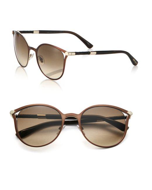 Jimmy Choo | Brown Neiza 54mm Round Sunglasses | Lyst