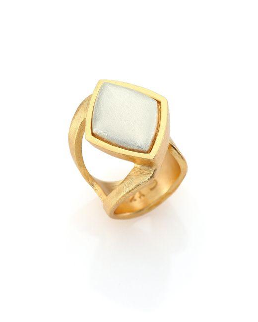 Stephanie Kantis | Metallic Luxe Two-tone Wrap Ring | Lyst