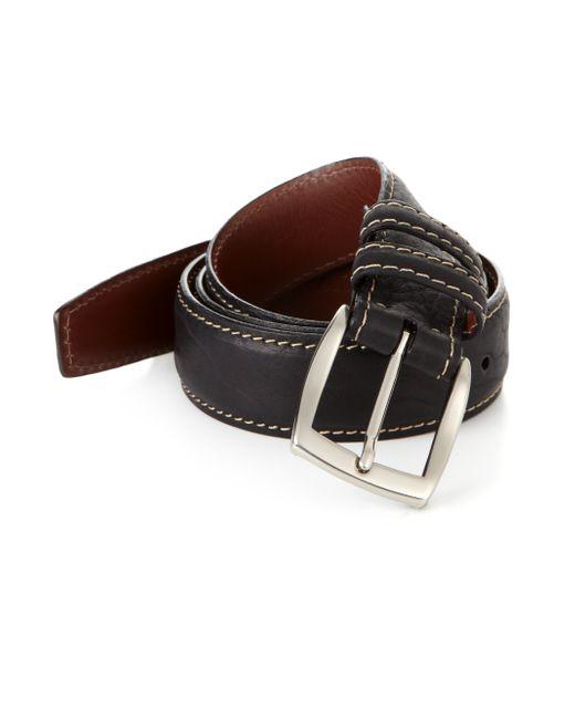 Saks Fifth Avenue   Black Bison Belt for Men   Lyst