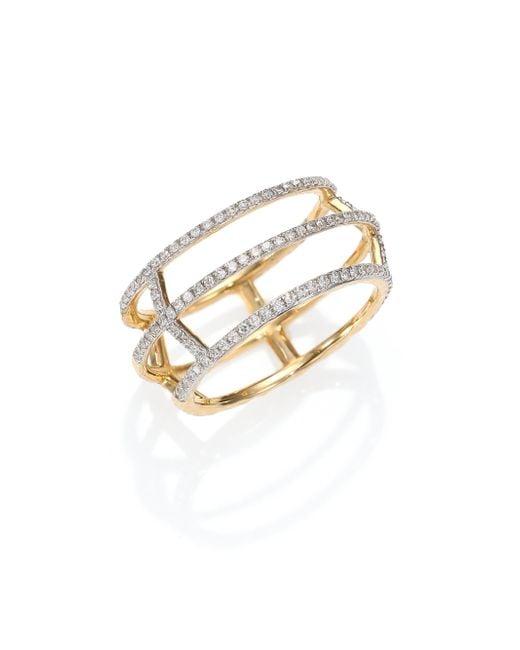 Phillips House | Metallic Apogee Diamond & 14k Yellow Gold Cage Ring | Lyst