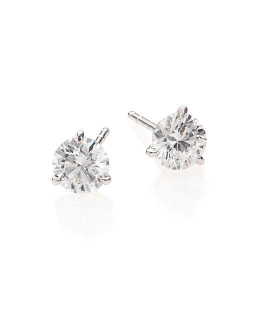 Roberto Coin | Metallic Diamond & 18k White Gold Stud Earrings/1.5 Tcw | Lyst