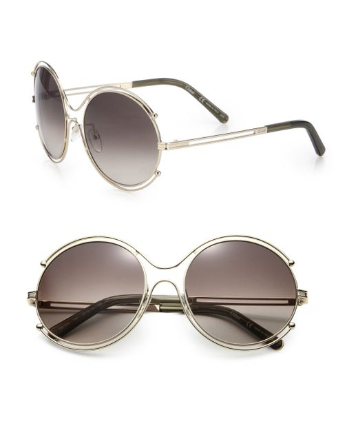 Chloé | Metallic Isadora 59mm Round Sunglasses | Lyst