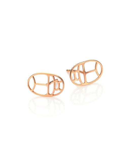 Ginette NY | Pink Wish Geometric 18k Rose Gold Stud Earrings | Lyst