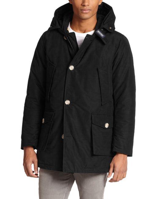 Woolrich | Black Fur-trimmed Arctic Parka for Men | Lyst