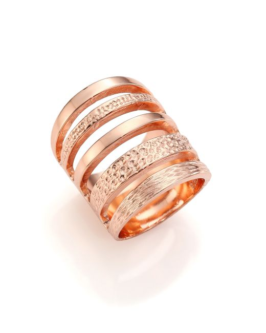 Pamela Love | Metallic Single Cage Rose Goldtone Ring | Lyst