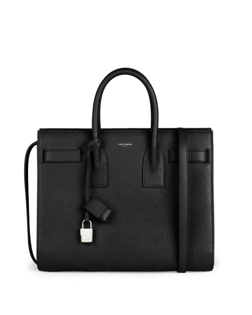 Saint Laurent | Black Small Sac De Jour Leather Tote | Lyst