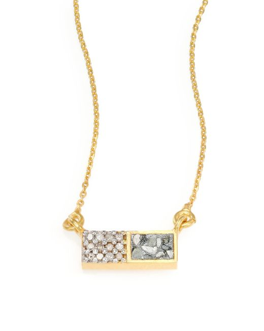 Shana Gulati | Metallic Banjara Champagne & Sliced Raw Diamond Necklace | Lyst
