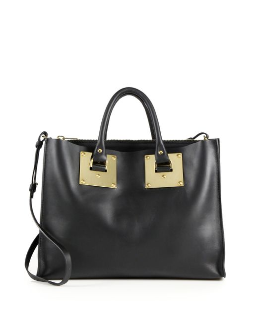 Sophie Hulme | Black Albion Leather East-west Tote | Lyst