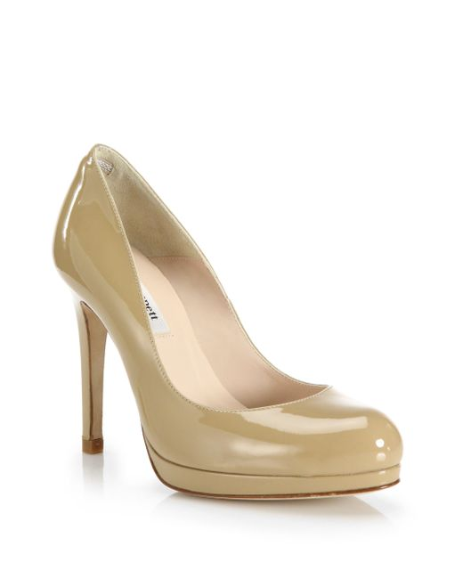 L.K.Bennett | Brown Sledge Patent Leather Pumps | Lyst