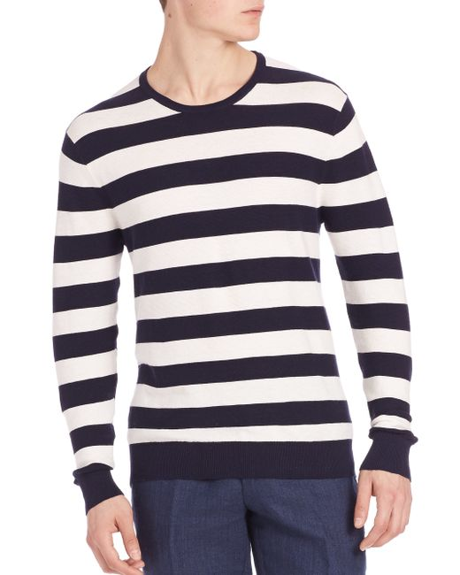 Polo Ralph Lauren | White Cashmere Blend Striped Tee for Men | Lyst