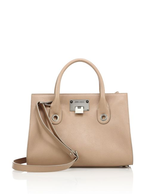 Jimmy Choo | Pink Riley Leather Tote | Lyst