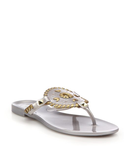 Jack Rogers Georgica Jelly Sandals In Gray Lyst