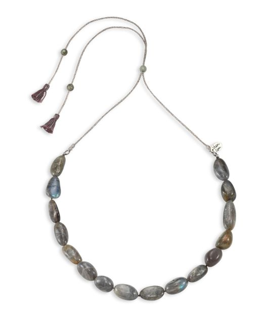 Chan Luu | Gray Labradorite & Sterling Silver Necklace | Lyst