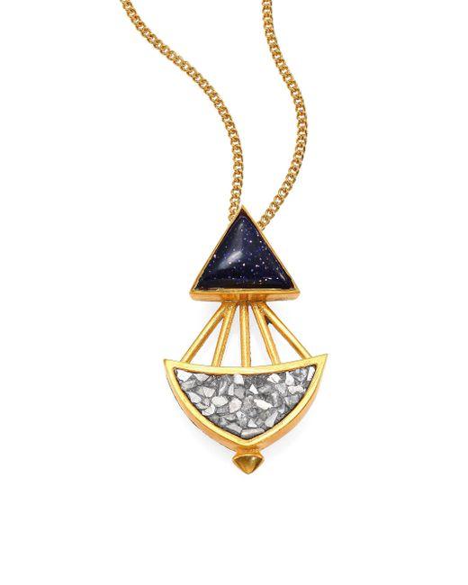 shana gulati tulum nova pendant necklace in metallic lyst