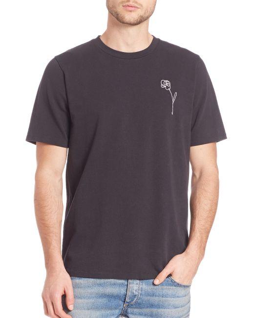 Rag Bone Flower Embroidery T Shirt In Black For Men Lyst