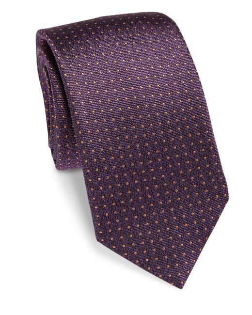 Saks Fifth Avenue | Brown Pin Dot Silk Tie for Men | Lyst