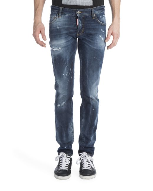 DSquared² | Blue 'slim' Jeans for Men | Lyst