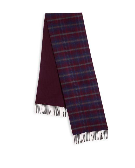 Saks Fifth Avenue   Purple Johnstons Of Elgin Plaid Merino Wool & Cashmere Scarf for Men   Lyst