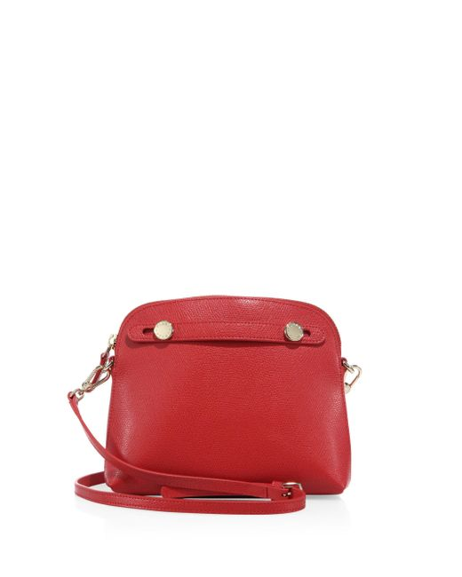 Furla | Red Piper Mini Saffiano Leather Crossbody Bag | Lyst
