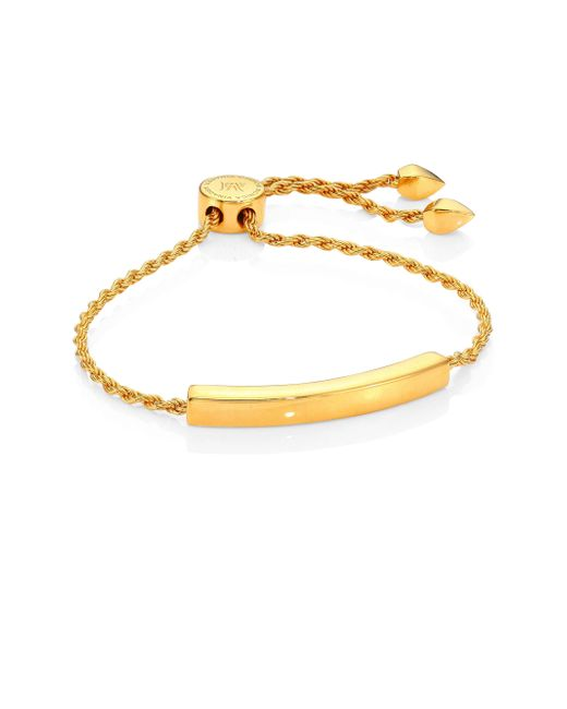 Monica Vinader | Metallic Linear Chain Bracelet/goldtone | Lyst