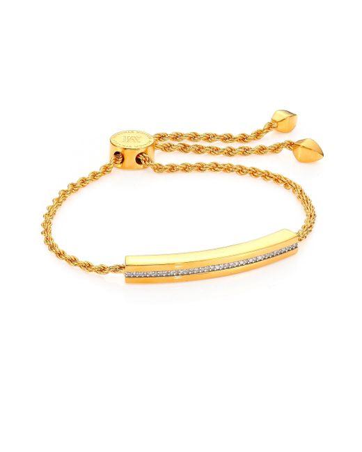 Monica Vinader   Metallic Linear Diamond Chain Bracelet/goldtone   Lyst