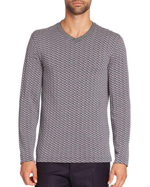 Giorgio Armani   Multicolor V-neck Sweater for Men   Lyst
