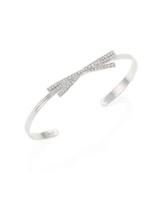 Hueb | Multicolor Origami Diamond & 18k White Gold Bangle Bracelet | Lyst
