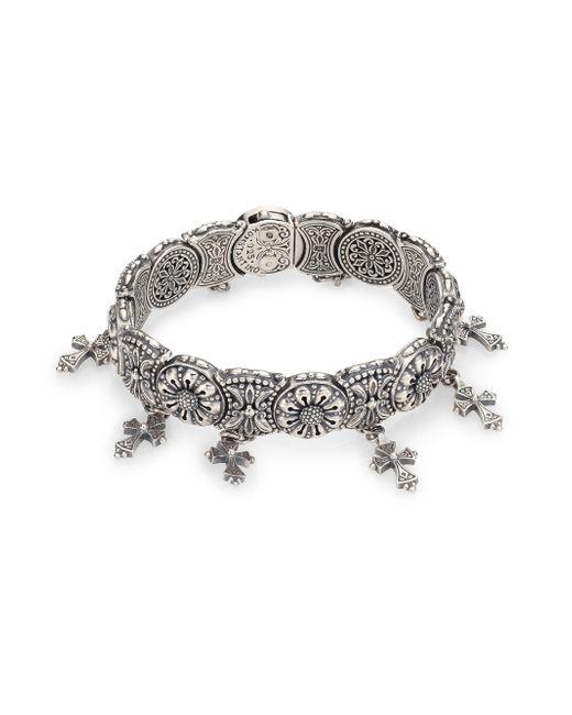 Konstantino | Metallic Penelope Cross Charm Bracelet | Lyst