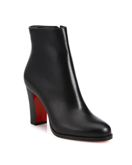 Christian Louboutin   Black Miss Tack 100 Leather Ankle Boots   Lyst