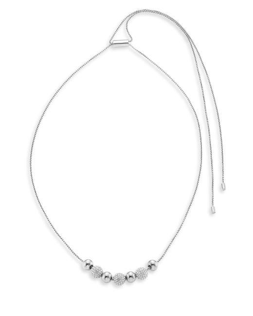Michael Kors | Metallic Brilliance Pave Beaded Necklace/silvertone | Lyst