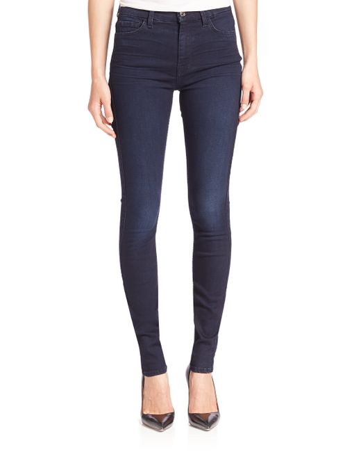 7 For All Mankind | Blue Slim Illusion Luxe Skinny In Luminous | Lyst
