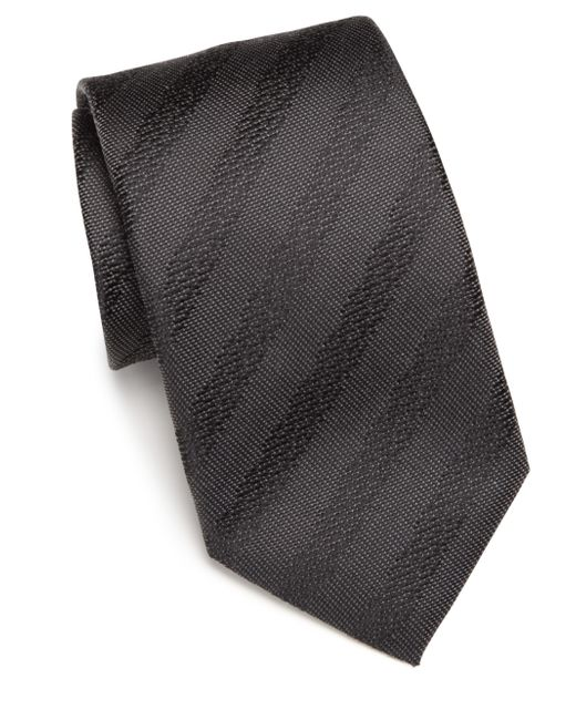 Saks Fifth Avenue | Gray Silk Tonal Textured Tie for Men | Lyst