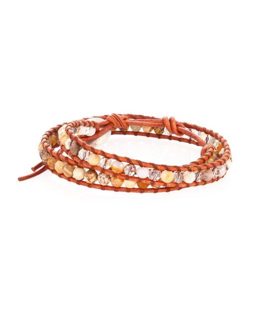 Chan Luu | Gray African Opal Mix Double-wrap Bracelet | Lyst