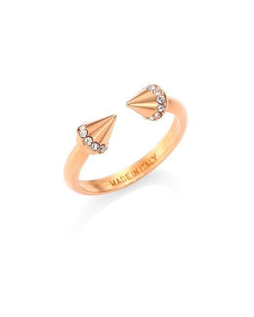Vita Fede | Metallic Ultra Mini Titan Crystal Ring/rose Goldtone | Lyst