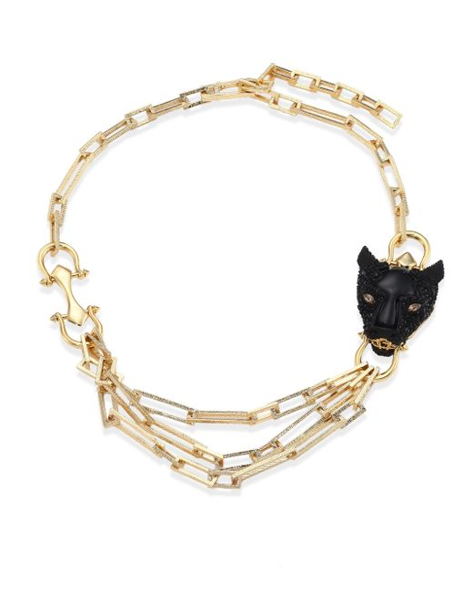 Alexis Bittar | Metallic Multi-chain Crystal Panther Necklace | Lyst