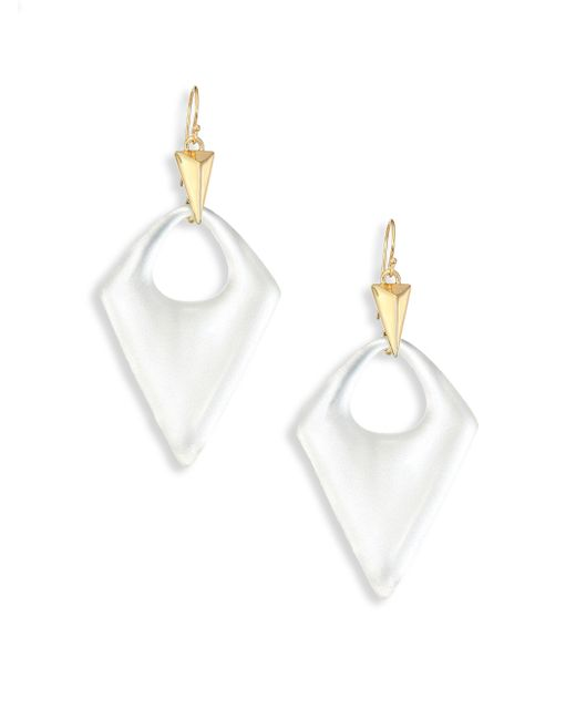Alexis Bittar   White Pointed Pyramid Lucite Drop Earrings   Lyst