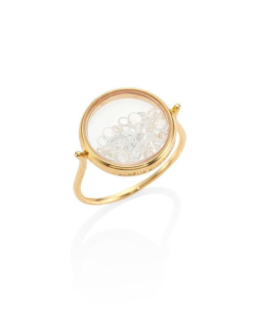 Aurelie Bidermann | Metallic Diamond & 18k Yellow Gold Chivor Ring | Lyst
