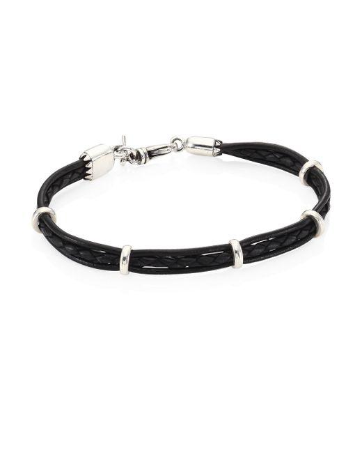 King Baby Studio | Black Multi-strand Leather & Sterling Silver Bracelet | Lyst