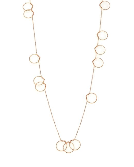 Ginette NY | Metallic Thirteen Circle 18k Rose Gold Necklace | Lyst