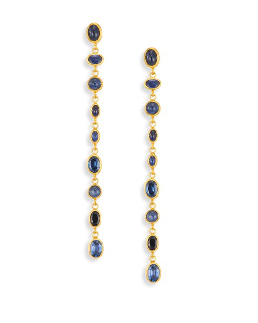 Gurhan | Metallic Amulet Hue Sapphire & 24k Yellow Gold Long Drop Earrings | Lyst